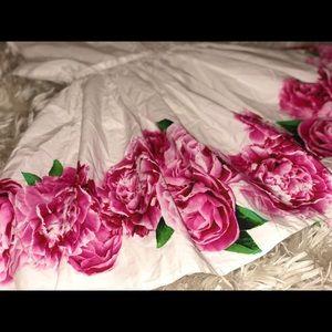 Land's End White Floral Print Girl Dress🍭